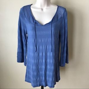 Lucky Brand Blue Long Sleeve Top Size S
